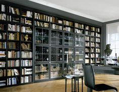 interior images with wall to wall bookshelves - Google Search