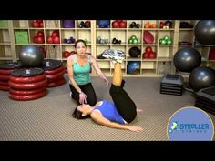 Change the usual reverse crunch into a movement which challenges the obliques as well! Stroller Strides, Leg Circles, Youtube Share, Power Walking, Reverse Crunches, Different Exercises, Ballet Class, Leg Stretching, Occupational Therapy