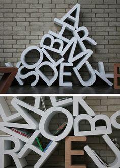 estanteria letras