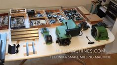 Technika small Milling Machine with collection accessories