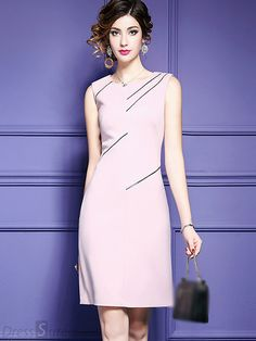 Buy Brief Sleevless Pure Color Bodycon Dress at DressSure.com, Design Brief Sleevless Pure Color Bodycon Dress with High Quality and Low Price.