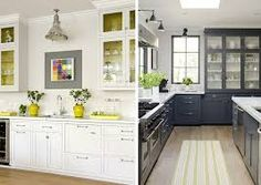 gray and yellow kitchens - Google Search