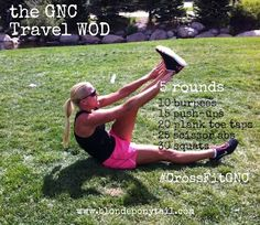 GNC Travel CrossFit WOD 5 moves. 5 rounds. No equipment. #CrossFitGNC