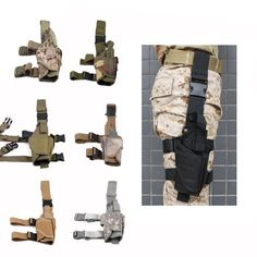 Adjustable Sports Outdoor Hunting Tactical Puttee Thigh Leg Pistol Holster Pouch…