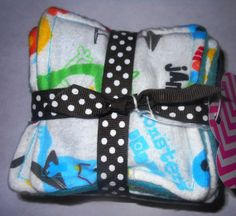 Washable Reusable Cloth Nose Wipes by DesandDell on Etsy, $9.00. Never run out of tissues when out and about! I'm going to try making these myself!
