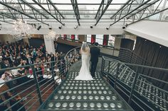 Wedding ceremony at the Tribeca Rooftop. Captured by NYC wedding photographer Ben Lau.