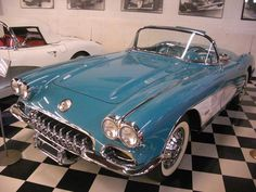 1960 Chevrolet Corvette in rare Tasco Turquiose color. Beautiful.