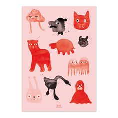 Anny Who CREATURES Poster by AnnyWho on Etsy, €17.00