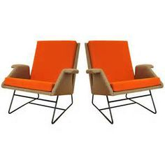 Louis Paolozzi pair of armchairs Confidence by Godfrid 1955