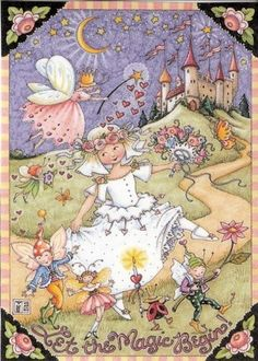 'Let the Magic Begin!' - By Mary Engelbriet - (fairies, fae, castle)