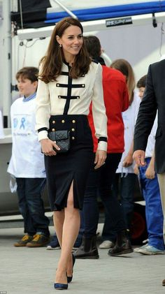 Catherine, Duchess of Cambridge, patron of the 1851 Trust, arrives at Land Rover BAR on May 20, 2016 in Portsmouth, England.  The Duchess of Cambridge is launching the 1851 Trust's two sailing projects and meeting people involved in the project. Afterwards she will open the 'Tech Deck' Education Centre at the heart of the base.