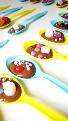 silly old suitcase: Chocolate Party Spoons...