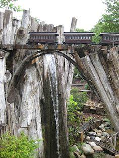 Railroad garden - Fernwood Botanical Gardens - MI