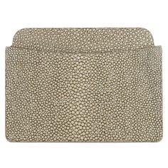 Shagreen Ben Flat Card Case - Taupe