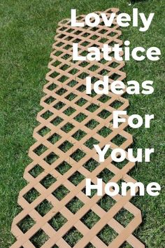 DIY Lattice Ideas For Your Home is part of diy-home-decor - lattice diy home decor decor diy diy projects lattice Diy Home Decor Projects, Outdoor Projects, Garden Projects, Outdoor Decor, Decor Diy, Outdoor Crafts, Decor Ideas, Diy Backyard Projects, Decor Crafts