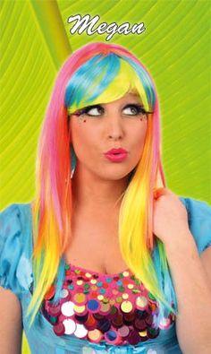 Pruik funky Megan Nr.1 in carnavalskleding en feestartikelen. Goedkope carnavalskleding en carnavalskostuums online bestellen. Snelle levering van jouw carnaval