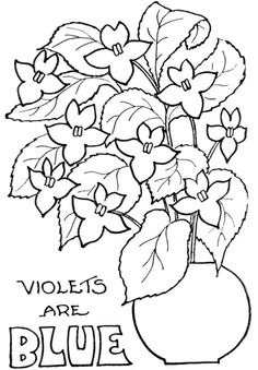 Valentines Day Coloring Flowers