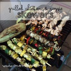 Thank You, Mom! Easy Grilled Chicken and Veggie Skewers Recipe - A Mother's Day Dinner Idea - Mom's Bistro