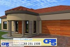 Pergola Kits Attached To House 5 Bedroom House Plans, My House Plans, Modern House Plans, House Floor Plans, Pergola Ideas For Patio, Pergola Plans, Pergola Kits, Single Storey House Plans, House Plans South Africa
