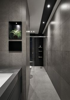 Type / ResidentialYear / 2016Services / Interior design Bathroom Design Luxury, Bathroom Interior, Contemporary Bathrooms, Modern Bathroom, Bathroom With Shower And Bath, Home Room Design, House Design, Restroom Design, Kitchens And Bedrooms