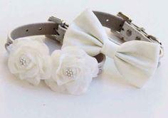 These white wedding collars.