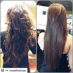 Antes e depois do The First, o primeiro shampoo que alisa no mundo. 🌎❤️ #somostodossweet #sweethairprofessional #thefirst #thefirstsweethair #sweet #hair #professional #mmn #marketingmultinivel #arevoluçãodomultinível