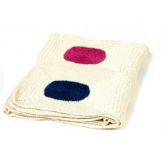 Hand made baby blanket DOTTY. Designed by Anne-Claire Petit. Available on www.darwinshome.com