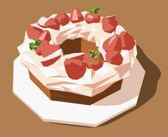 mrpurin: made a low poly cake! Yum!