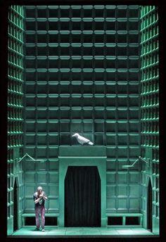 Siegfried, directed by Barrie Kosky, set and light design by Klaus Grünberg, 2011 #uplighting #uplight