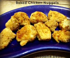 Simple Recipes for kids: Baked Chicken Nuggets #recipes