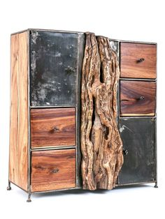 Tron Commod #Holz #Kommode #Upcycling #Afrika #Design #Wurzel #Stamm
