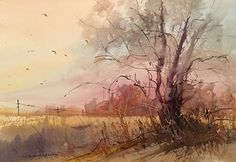 Sunset on 108th by Sandy Strohschein Watercolor ~ 14 x 20