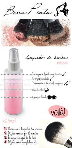 Limpiador de brochas de maquillaje casero