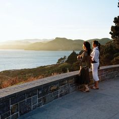 Immigration Point Overlook at the Presidio of San Francisco - Sunset