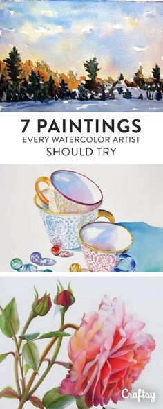 7 Watercolor Painting Ideas Every Artist Should Try is part of painting Ideas Tutorials - After learning watercolor basics, there's just one thing missing watercolor painting ideas for subjects to tackle! We've got 7 ideas here Watercolor Tips, Watercolor Projects, Watercolour Tutorials, Watercolor Techniques, Watercolor Portraits, Watercolor Paintings, Abstract Paintings, Indian Paintings, Oil Paintings