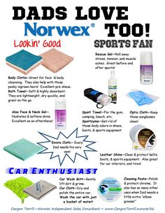 Did you know that Dads love Norwex too?! Check out these awesome gift ideas. To order, visit: http://www.norwex.biz/PublicStore/event/763847/AM/catalog/Home-Essentials,200.aspx