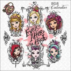 Whether you're a Rebel or a Royal, you'll love the Ever After High Mini Wall Calendar. Featuring Apple White, Raven Queen, Briar Beauty and more, these fun