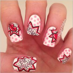 Nailpolis Museum of Nail Art | Pop Art Valentine's Day by Playful Polishes