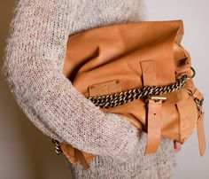Slouchy leather handbags.