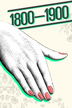 The Illustrated History Of Nail Art #refinery29  http://www.refinery29.com/the-illustrated-history-of-nail-art#slide5  1800s - 1900s — Manicures were popular once again during the Victorian age with a simple treatment of a light tint of red oil, accompanied by a chamois cloth buffering. This minimalistic treatment was in part due to the Victorian ideals of transparent inner beauty, physical hygiene, and moral purity. Etiquette guides recommended just a tad of lemon juice or vinegar to ...