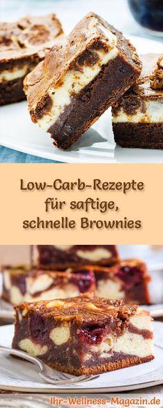 7 Low-Carb-Rezepte für schnelle Brownies: Gesund, kalorienreduziert, ohne Getreidemehl und ohne Zuckerzusatz ...
