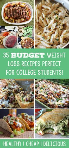 35 Budget Weight Loss Recipes Perfect For College Students! | http://www.trimmedandtoned.com/35-budget-weight-loss-recipes-perfect-for-college-students/35-budget-friendly-meals-for-college/
