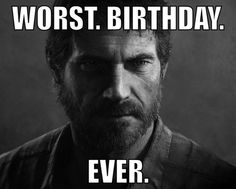 I was just thinking this!!! Man it must have been terrible, the apocalypse starting on your birthday AND loosing your daughter... man...