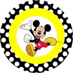 Traditional Mickey - Full Kit with frames for invitations, labels for snacks, souvenirs and pictures!   Making Our Party