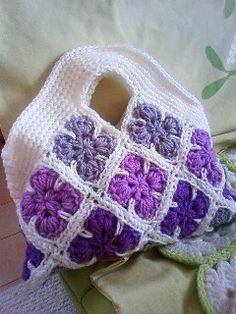 lilac crochet bag