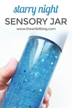 How to Make Calming Starry Night Sensory Jars via Art Kit