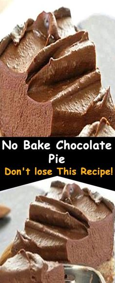 No bake chocolate pie recipe inspiration no bake peanut butter icebox cake No Bake Chocolate Pie Recipe, Homemade Chocolate Pie, Homemade Pie, Chocolate Pies, No Bake Chocolate Desserts, Baking Recipes, Cake Recipes, Dessert Recipes, Baking Dishes