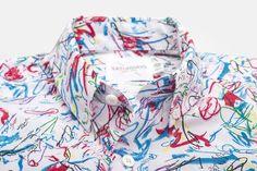 A nice shirt by Saturdays NYC and artist Gordon Harrison Hull.