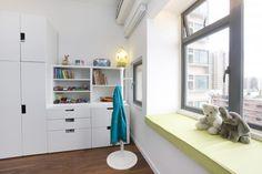 Modern children's bedroom storage with IKEA Stuva