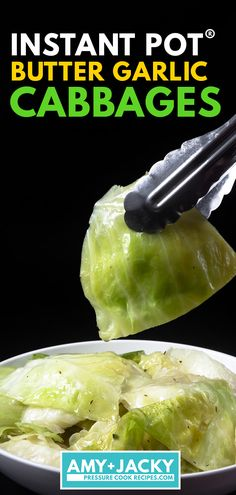 Instant Pot Cabbage Super easy way to cooking Butter Garlic Instant Pot Cabbage (Pressure Cooker Cabbage)! Tender-crisp cabbage wedges packed with tasty flavors. A super simple, nutrient-packed vegetable side dish for a deliciously healthy meal. Pressure Cooker Cabbage, Instant Pot Pressure Cooker, Pressure Cooker Recipes, Pressure Cooking, Instant Cooker, Buttered Cabbage, Steamed Cabbage, Cooked Cabbage, Instant Pot Steamed Vegetables